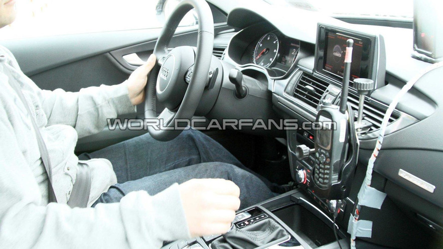 Audi S7 interior spied for first time