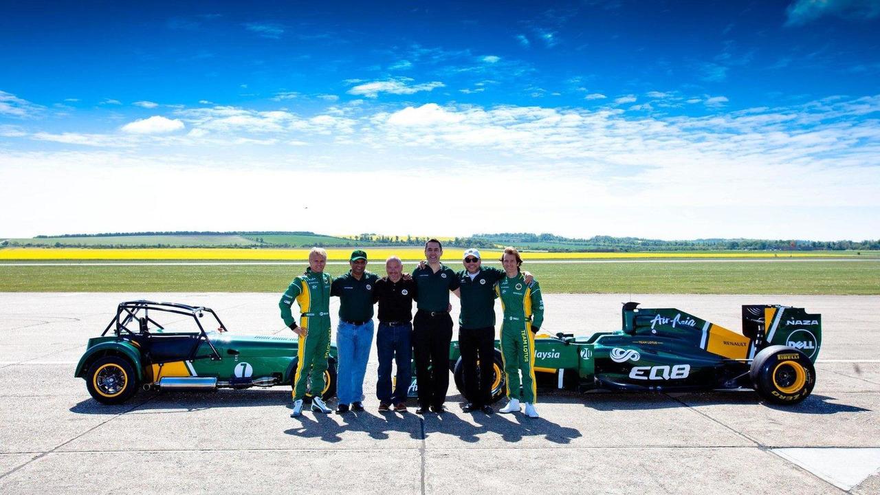 Caterham and Team Lotus T128 F1 car 27.04.2011