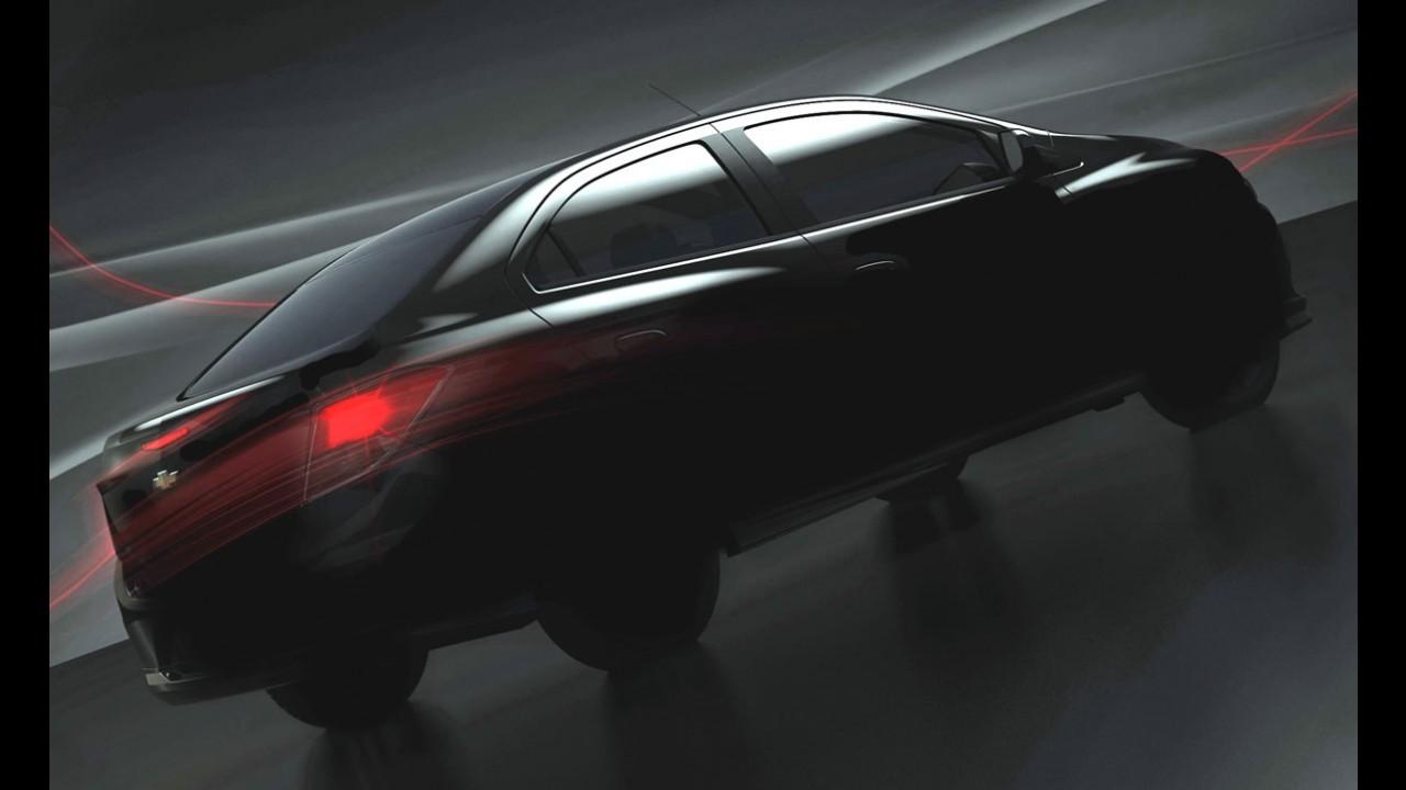 """Novo Prisma: Chevrolet divulga primeiro teaser do modelo e fala em """"Sport Sedan"""""""