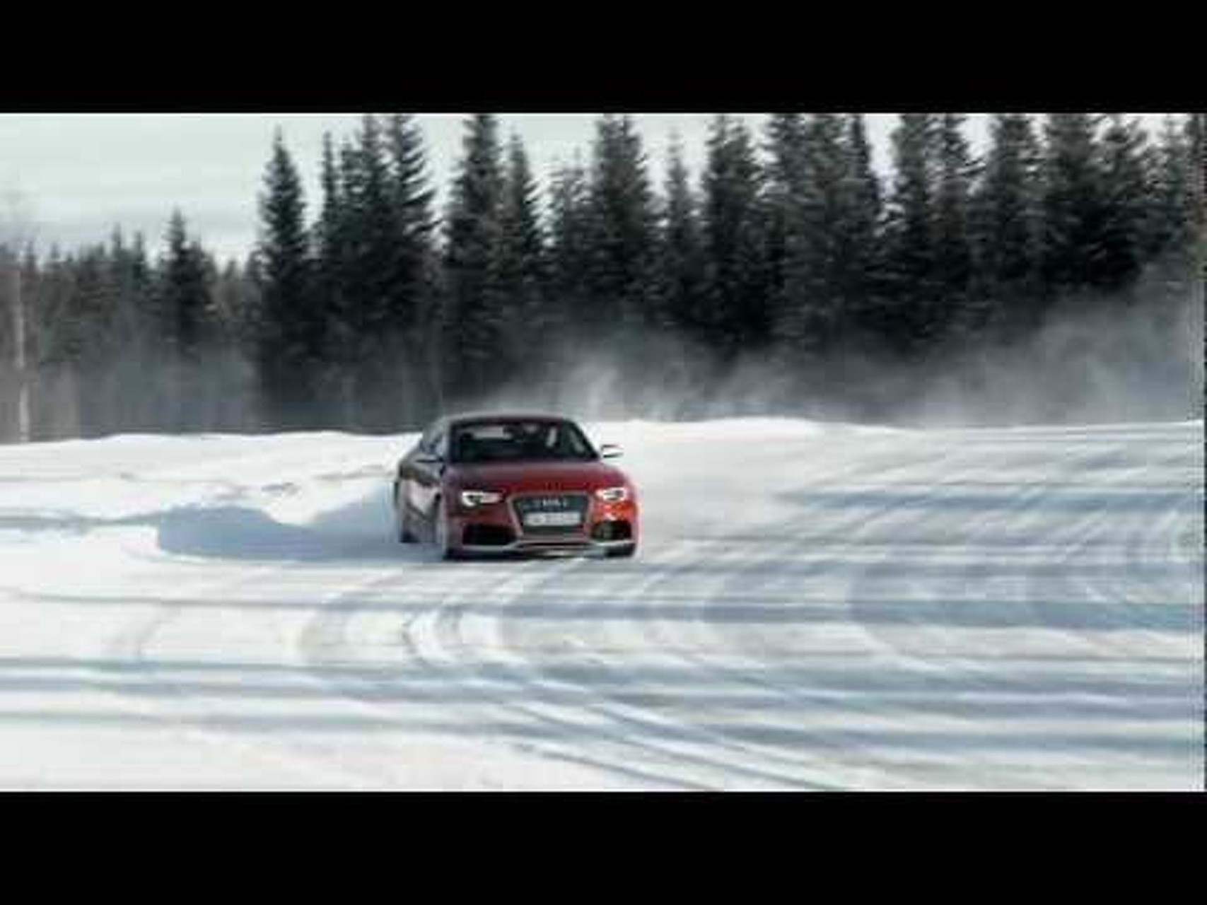 2012 Audi RS 5 Snow Drifting