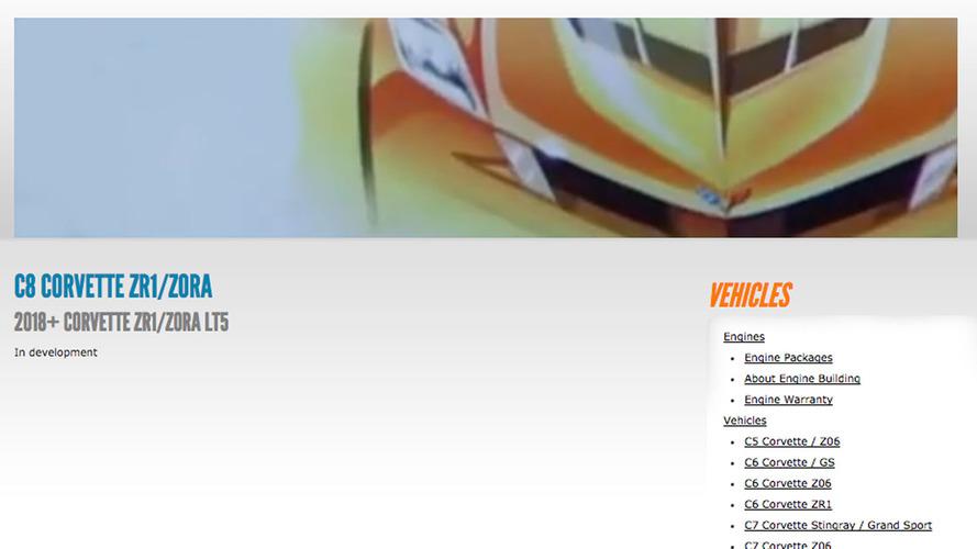 Info about C8 Corvette ZR-1 Zora possibly leaks online