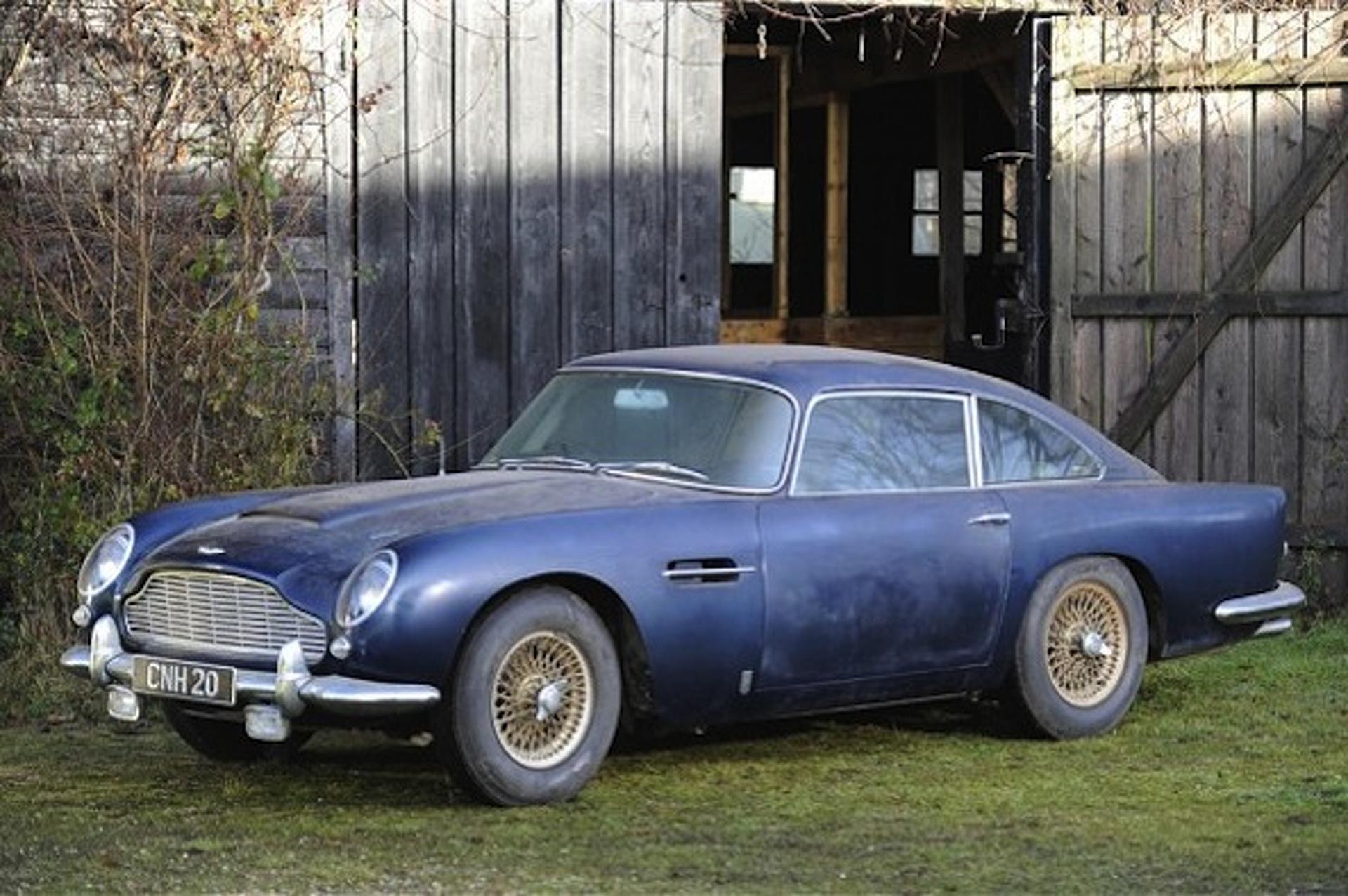 $300K Aston Martin DB5 Barn Find Set for Auction