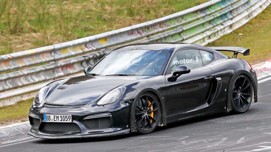 Porsche Cayman GT4 RS Spied Exercising Flat Six At Nurburgring