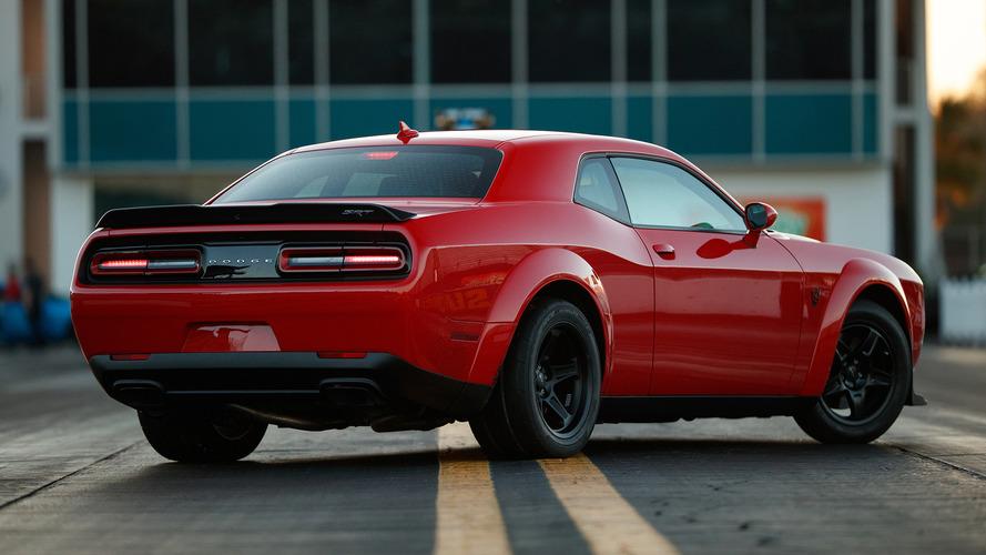 Dodge Challenger Demon's Drag Tires Won't Fit The Production Line