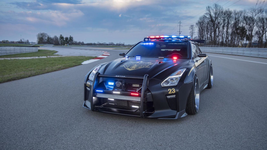 Don't Bother Running From This Insane Nissan GT-R Police Car