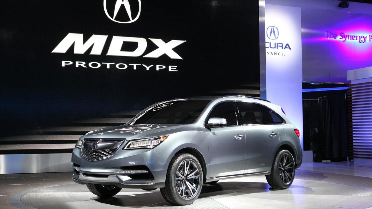 Acura MDX concept live in Detroit 15.01.2013