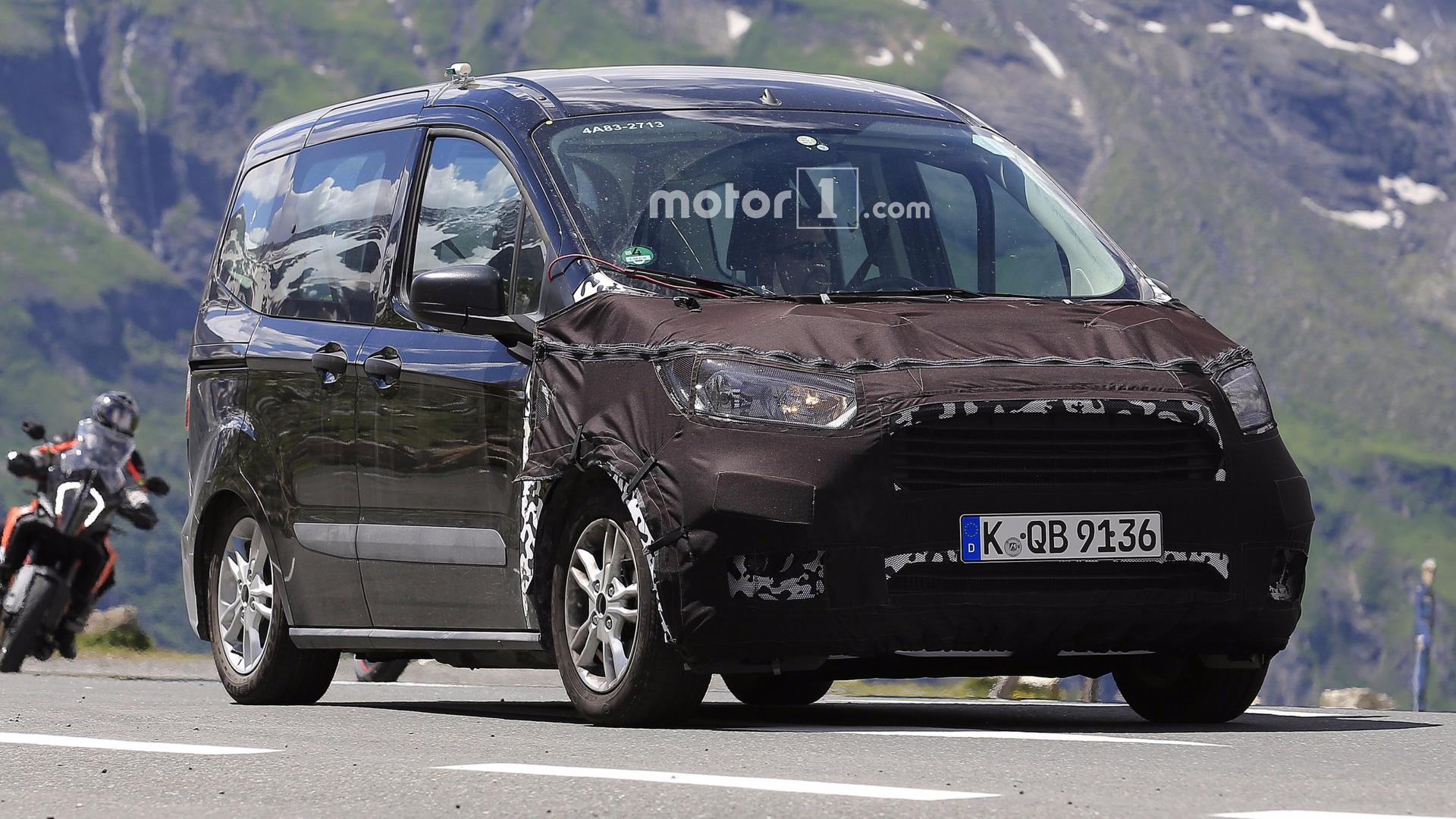 Ford Tourneo Courier Facelift Spied With Even More Camo on ford expedition, ford torino, ford f-250, ford ecosport, ford cougar, ford taurus, ford f350, ford fiesta, ford fusion, ford courier, ford focus, ford e-series, ford connect, ford granada, ford caravan red, ford mondeo, ford explorer, ford transit, ford tempo, ford flex,