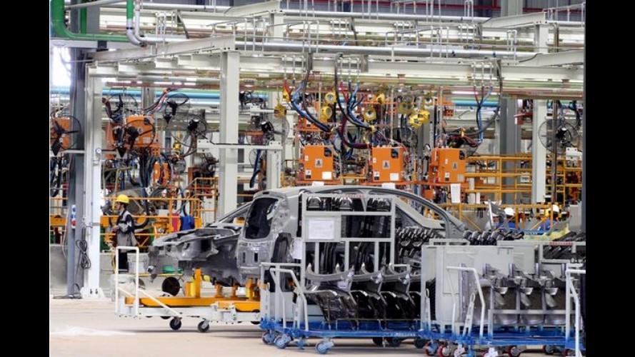 Novo Chery QQ aparece em imagem dentro da fábrica brasileira