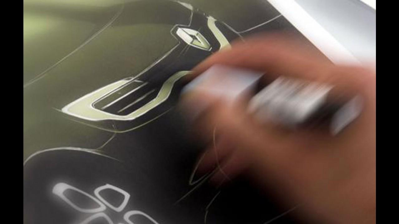 Renault divulga teaser de novo carro elétrico