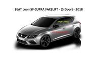 2017 SEAT Leon facelift as seen on infotainment