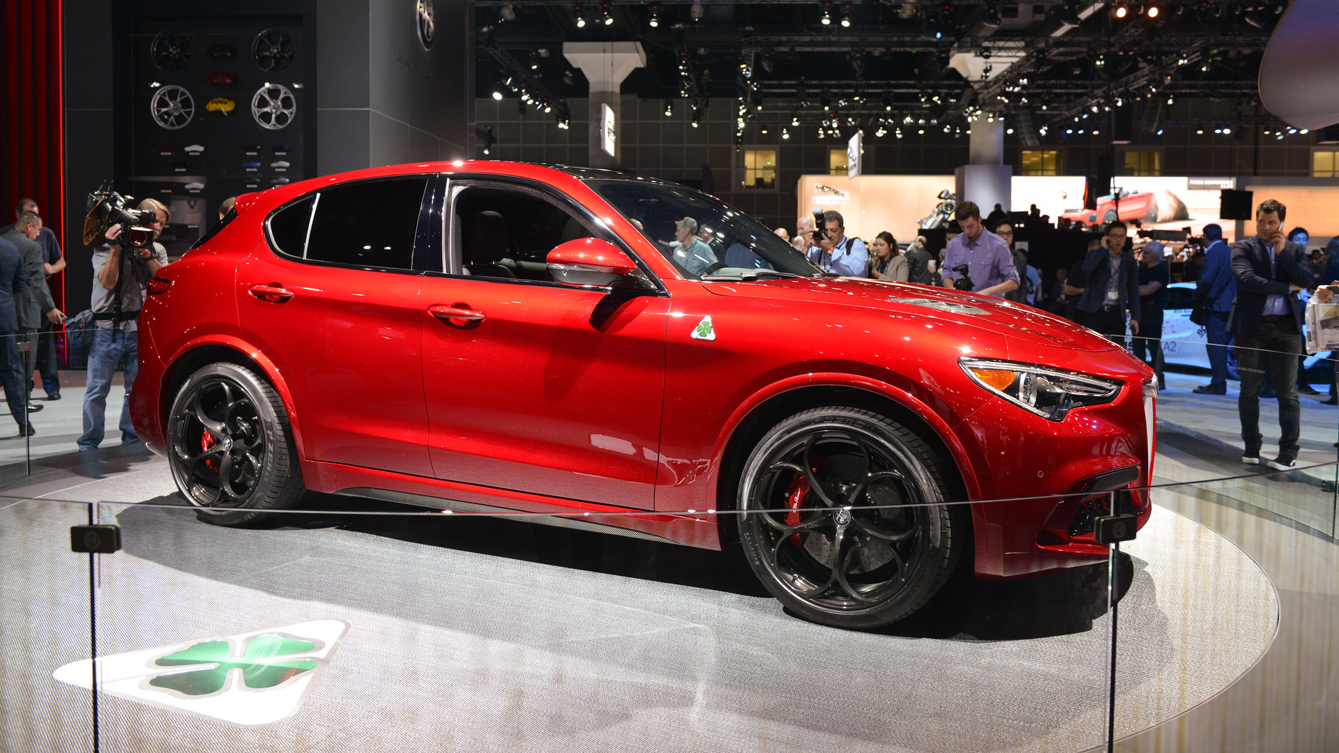 2018 alfa romeo stelvio officially unveiled and in quadrifoglio trim the. Black Bedroom Furniture Sets. Home Design Ideas