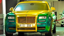Mansory's green & gold Rolls-Royce Ghost is hard to look at