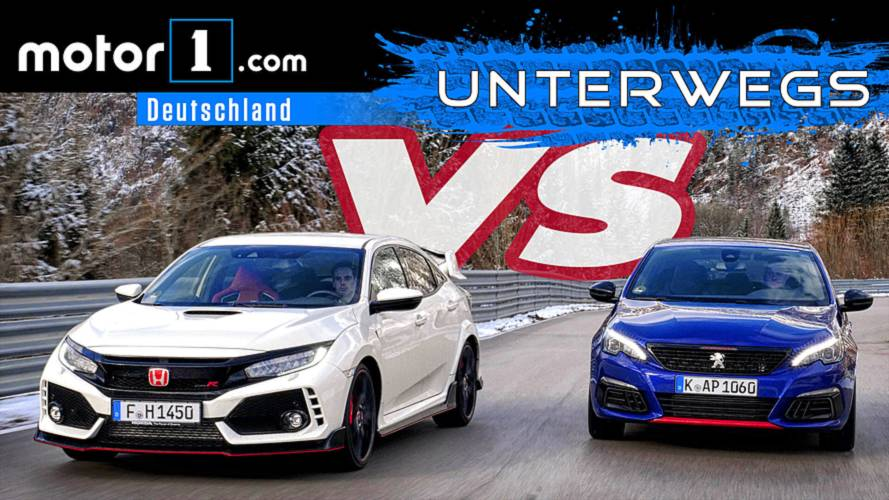 Honda Civic Type R vs. Peugeot 308 GTi   UNTERWEGS mit Daniel Hohmeyer