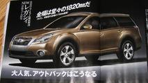 2010 Subaru Legacy Outback artist rendering