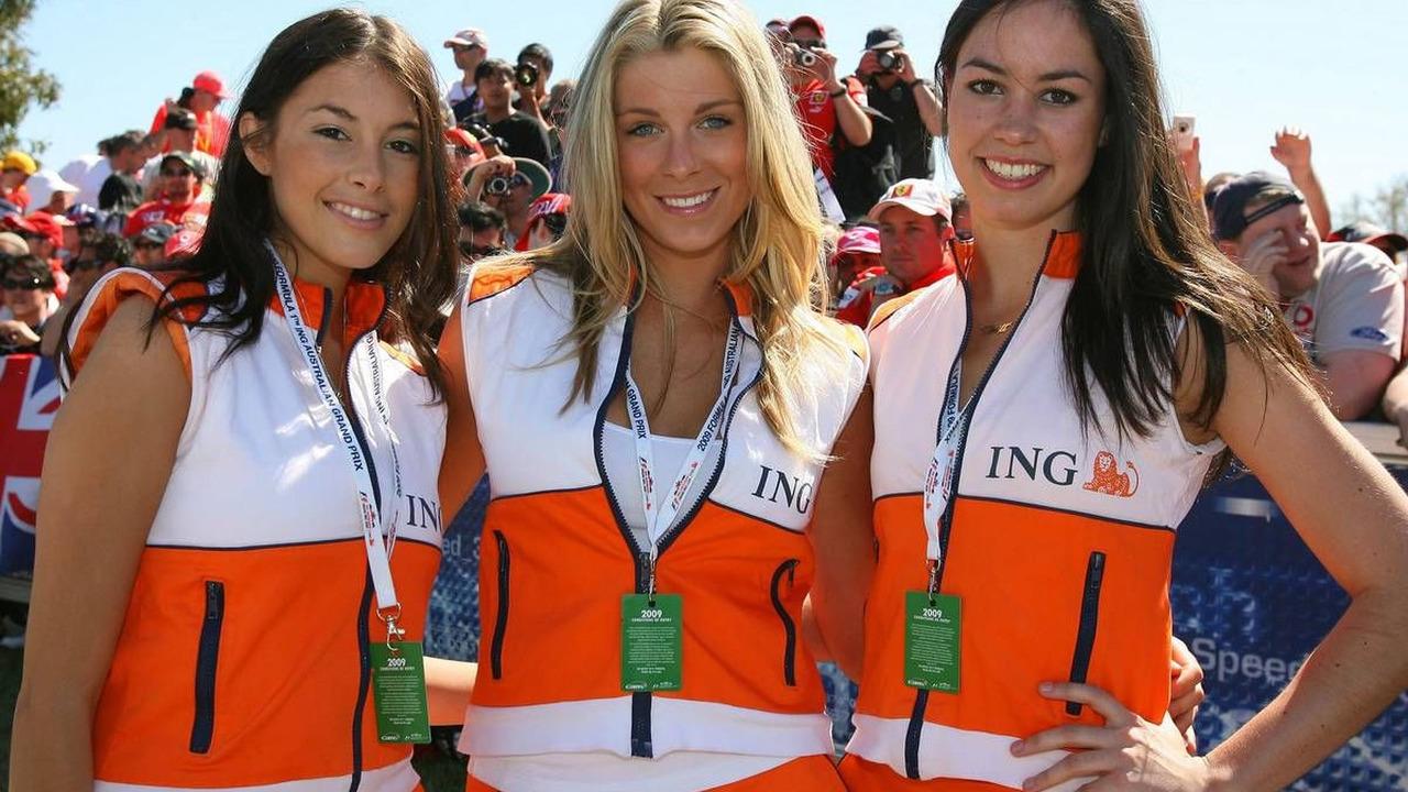 Grid Girls, Formula 1 World Championship, Australian Grand Prix, 29.03.2009 Melbourne, Australia