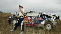 Kimi Raikkonen (FIN) Kaj Lindstrom (FIN), Citroen C4 WRC, Citroen Junior Team, out of the rally - Rally of Mexico, World Rally Championship 2010, 07.03.2010