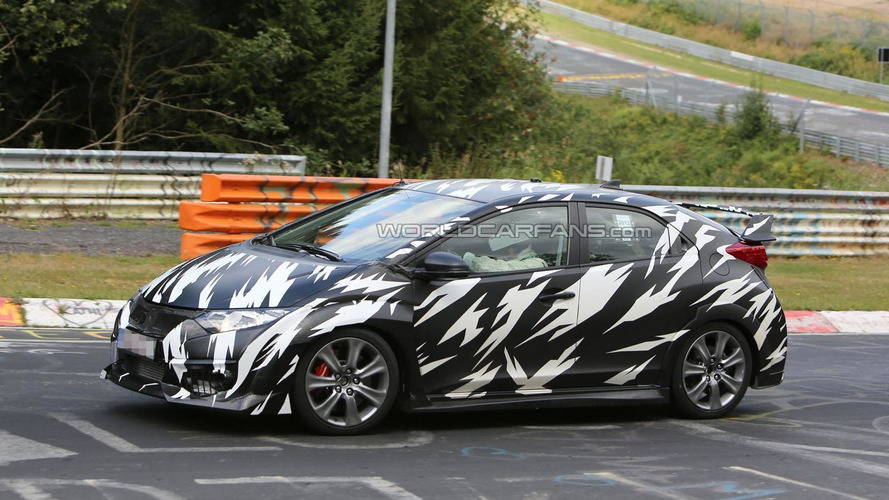 Honda Civic Type R spied on the Nurburgring