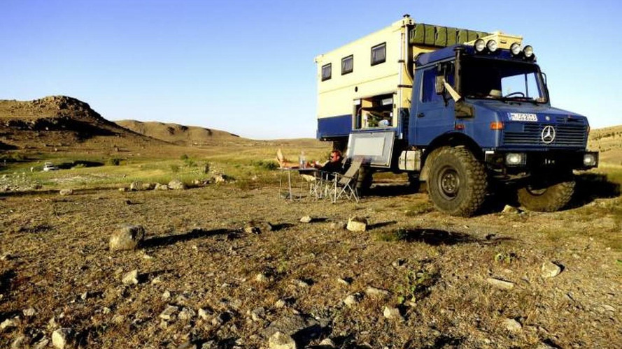 Mercedes-Benz Unimog: the perfect round-the-world honeymooon trip car