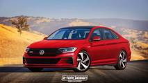 VW Jetta GLI Rendering
