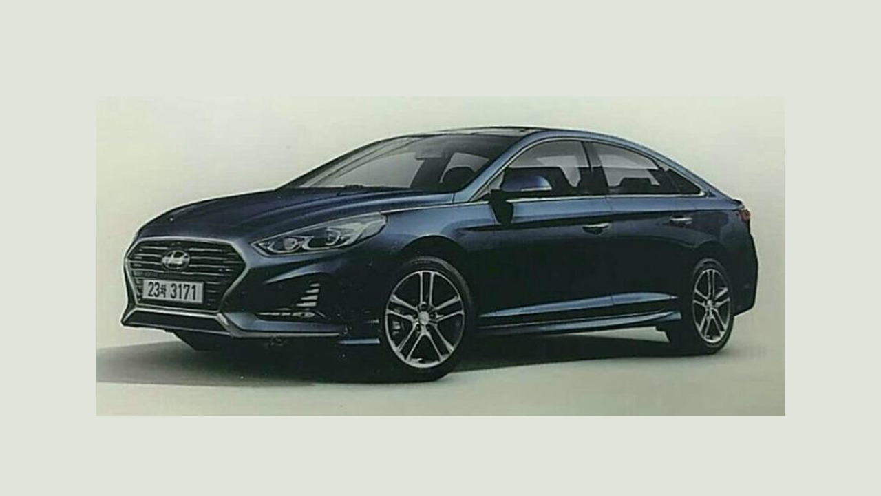 2018 Hyundai Sonata facelift leaked official image