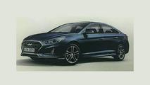 Makyajlı 2018 Hyundai Sonata sızdırılmış resmi fotoğraf
