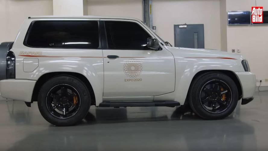 2000 beygirlik Nissan Patrol ile Mercedes SLR karşı karşıya