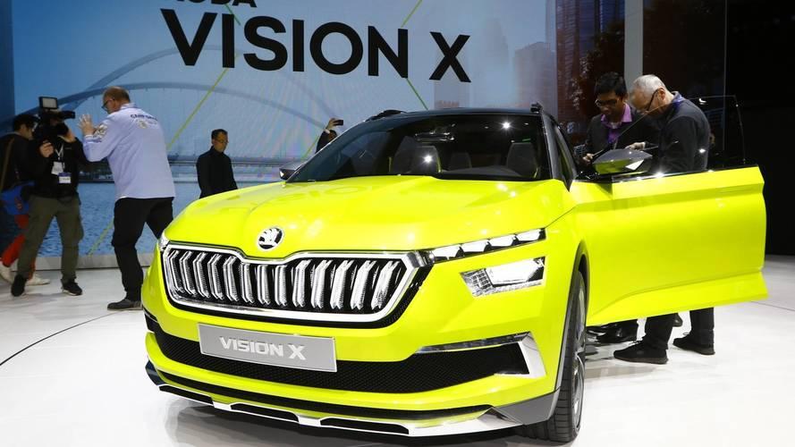 Skoda Vision X at the 2018 Geneva motor show