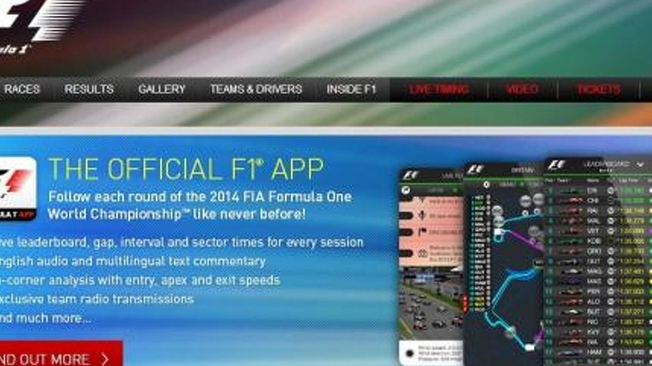 Formula 1 official website