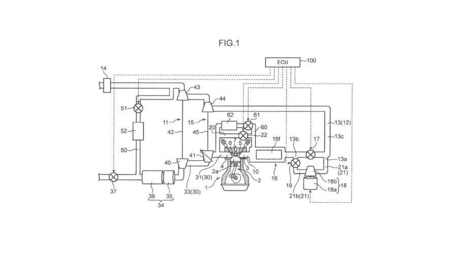 Mazda three-turbo patent