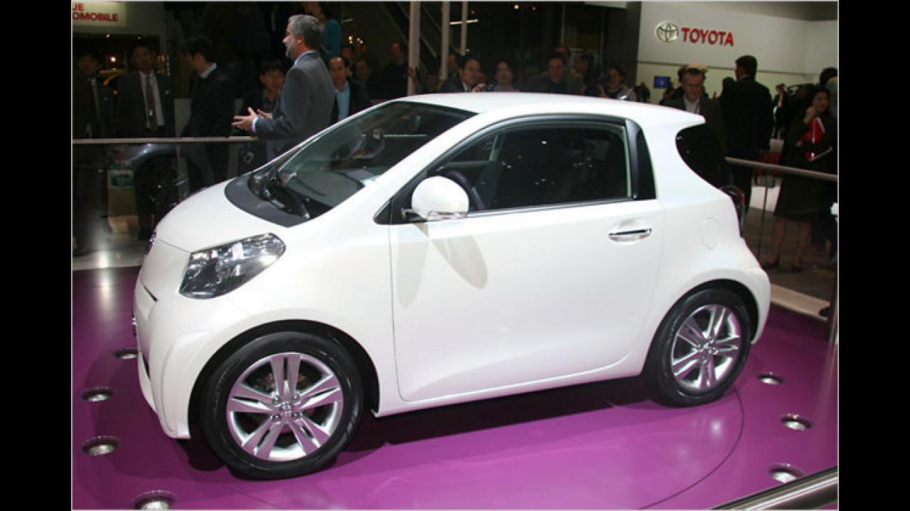 Toyota iQ: Ein variabler 3+1-Sitzer mit weniger als drei Meter Länge für die Stadt