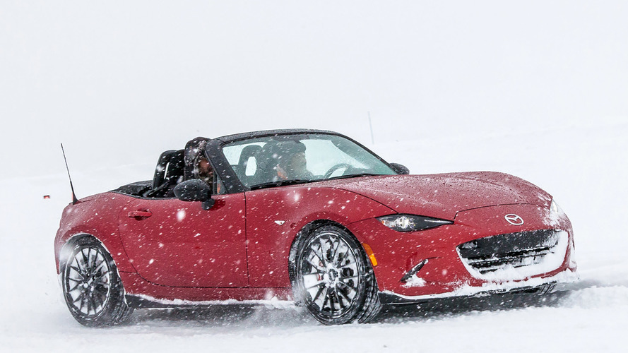 The Mazda MX-5 Miata is truly a four-season sports car