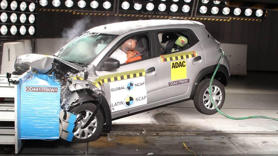 Renault Kwid brasileiro ganha três estrelas no teste de colisão do Latin NCAP