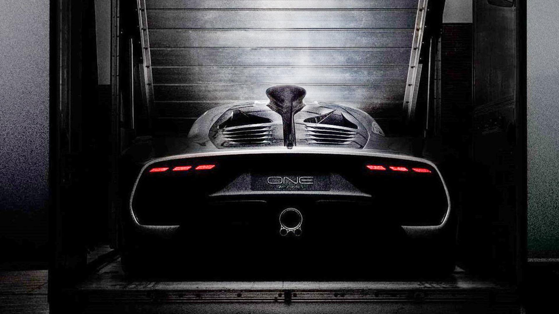 Mercedes amg project one rear looks absolutely wild for Mercedes benz amg project one