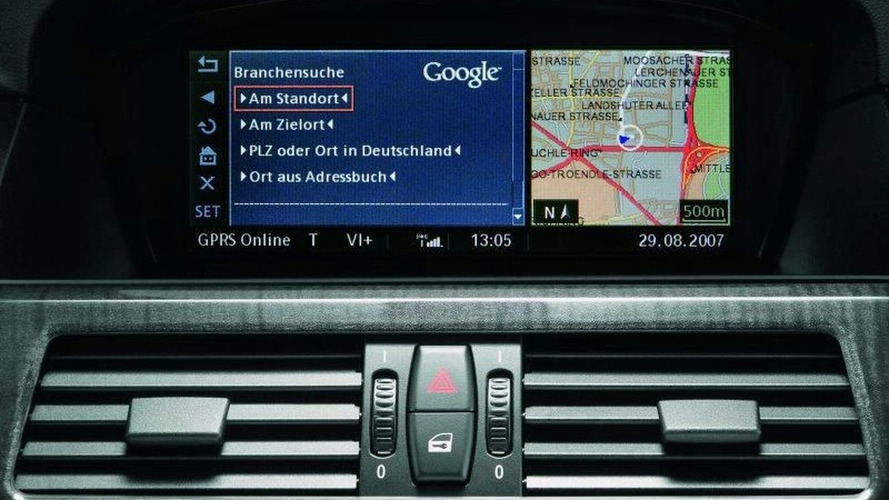 Google Local Search via BMW Navigation System