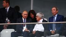 (L to R): Vladimir Putin, Russian Federation President with Bernie Ecclestone