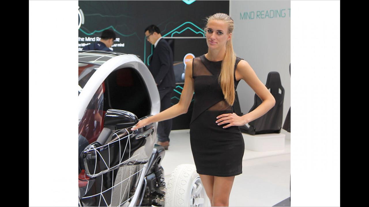 Den praktischen Korb-Wagen kann frau auch mit in den Supermarkt nehmen