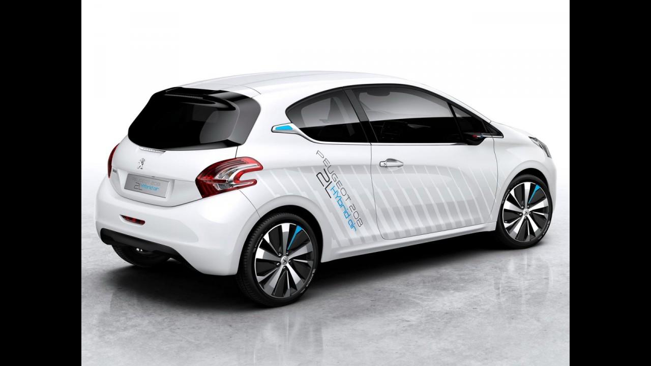 Peugeot 208 HYbrid Air 2L, que faz 50 km/l, será mostrado em Paris