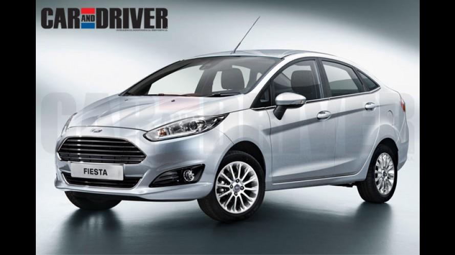 Novo Ford Fiesta Sedan fará estreia mundial no Salão do Automóvel de São Paulo