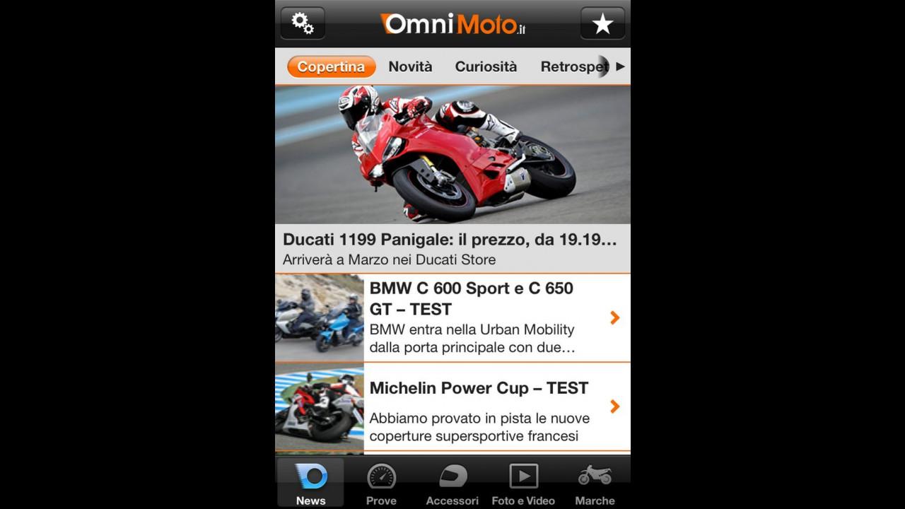 OmniMoto.it: l'app gratuita per iPhone