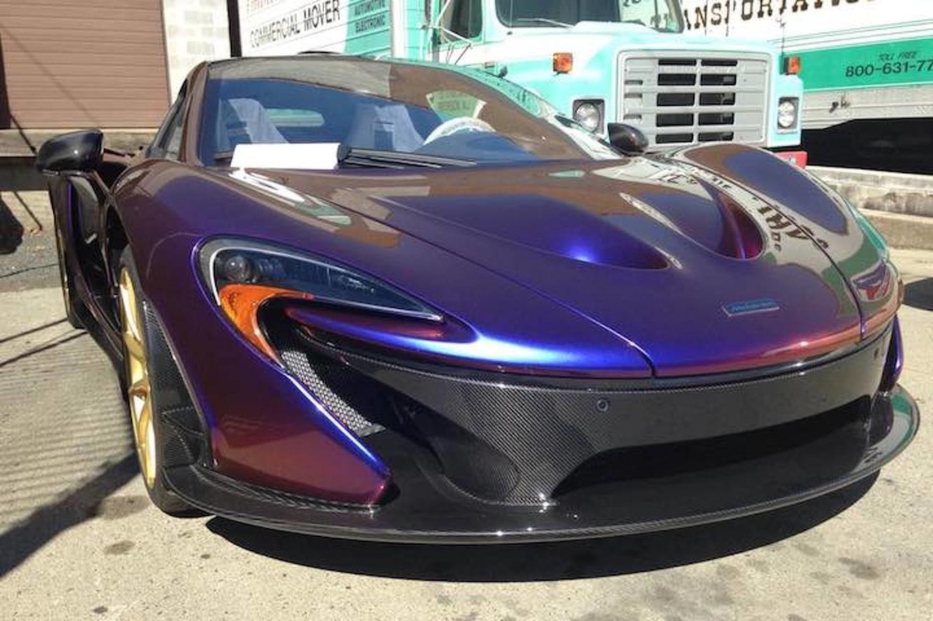 "MLB Pitcher CJ Wilson's McLaren P1 is ""Blurple"" and Beautiful"