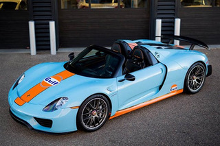 1-of-2 Gulf Liveried Porsche 918 Spyder Up For Sale