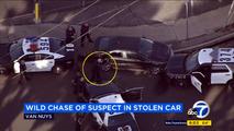 Çalıntı Chevy Volt'un kovalamacası kazayla sonuçlandı, şüpheli yakalandı