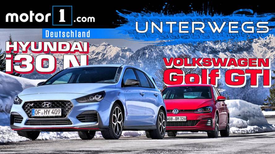 Hyundai i30N vs. VW Golf GTI Performance   UNTERWEGS mit Daniel Hohmeyer