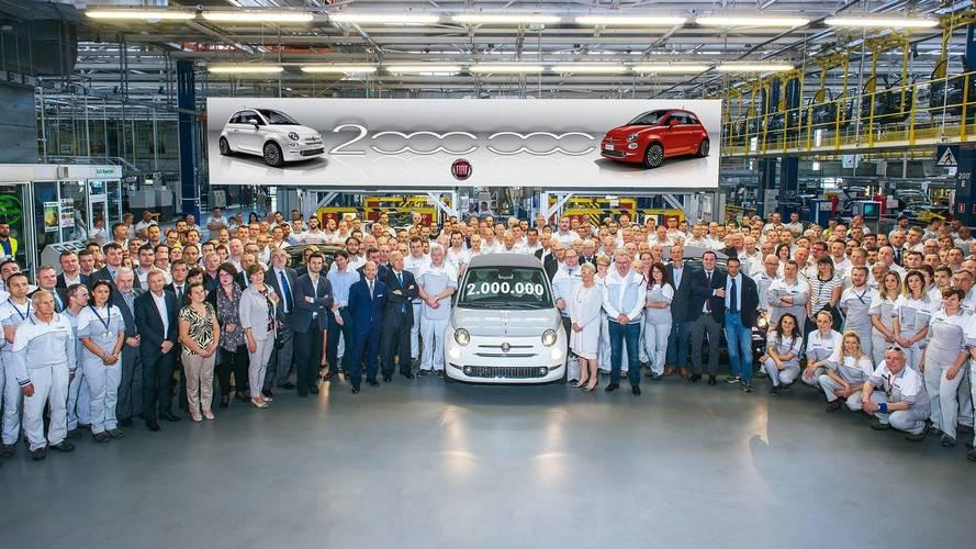 A kétmilliomodik Fiat 500 is legördült a gyártósorról