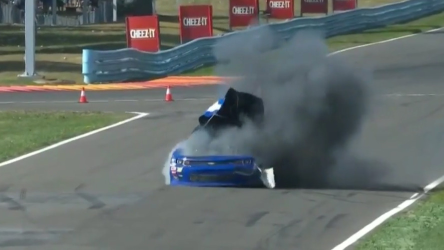 NASCAR impounding Cope car after bizarre explosion