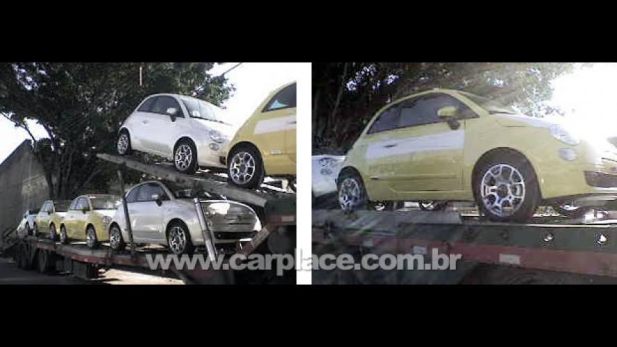 Flagra: Fiat 500 já começa a ser enviado para as concessionárias no Brasil