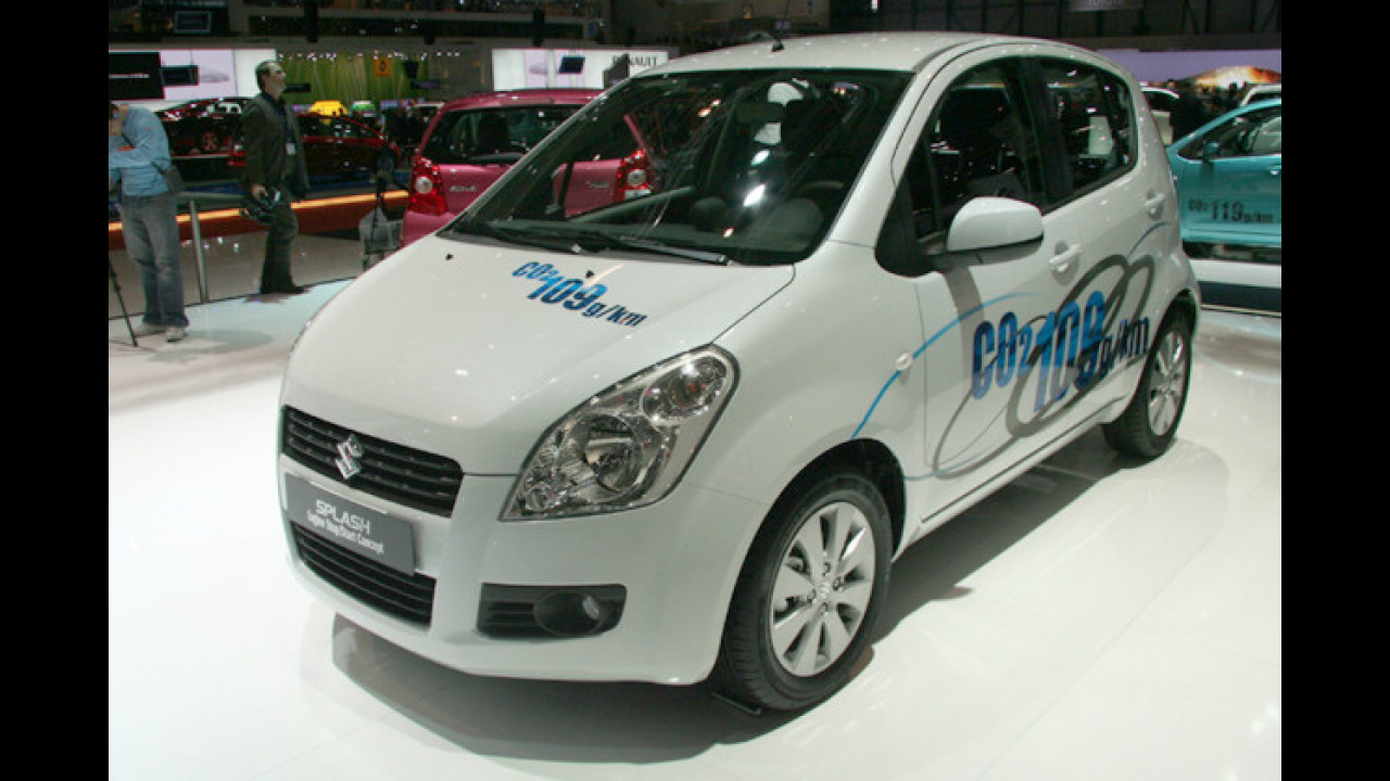 Suzuki Splash mit Start-Stopp-Automatik