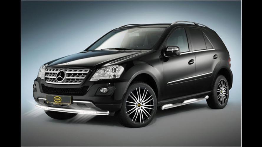 Mehr Licht: Cobra rüstet Mercedes ML mit LED-Leuchten aus