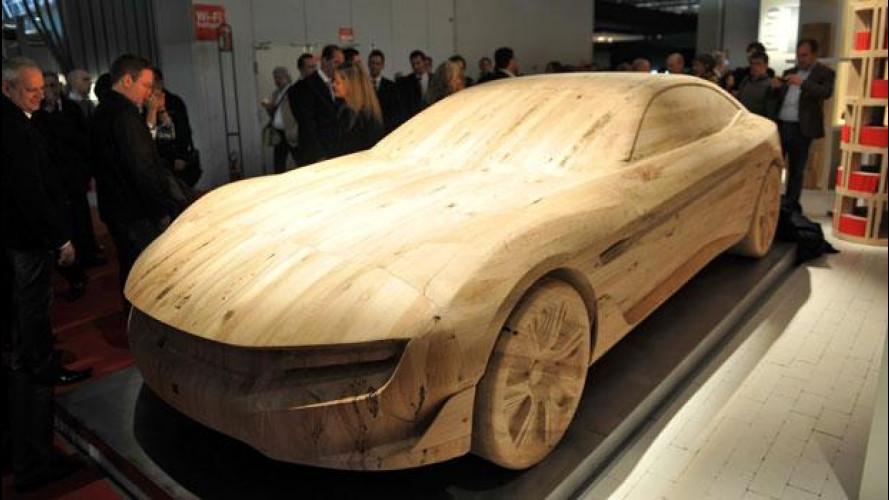 Pininfarina Cambiano è diventata una scultura in legno