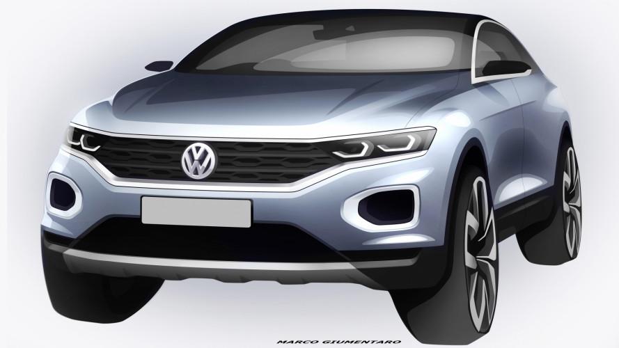 Volkswagen T-Roc, il B-SUV si mostra nei bozzetti ufficiali